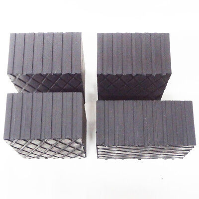 """Rotary Lift 3"""" Rubber Stack Blocks Auto Lift or Rolling Jack FJ2428 - Set of 4 4"""