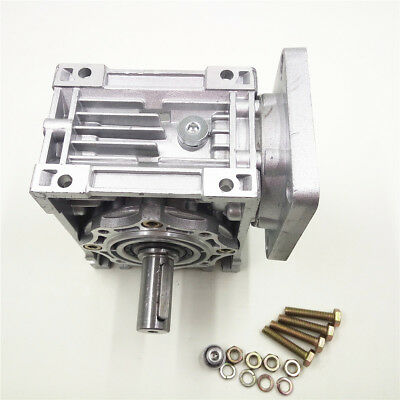 NMRV040 Worm Gearbox Geared Speed Reducer 14mm Input for 60/80/86/90 Motor 12