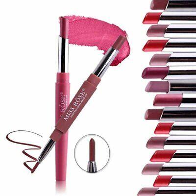 Waterproof Pencil Lipstick Pen Matte Lip Liner Long Lasting Makeup Multifunct 2