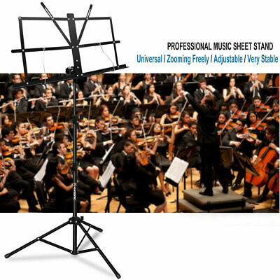 Adjustable Music Stand Holder Foldable Sheet Tripod Base Metal with carry bag 6