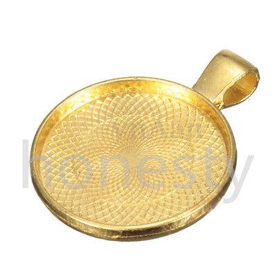 5 ~ 20pcs beauté Cabochon pendentif alliage Base support a bijoux paramètres 6