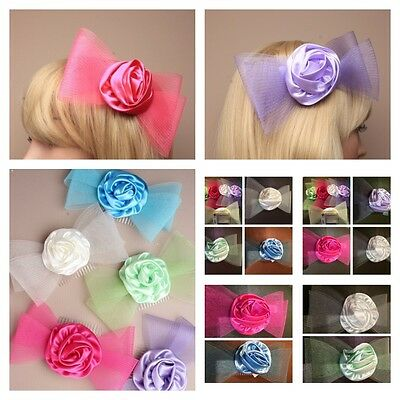 Hair Fascinators on Comb Clip or Headband Wedding Prom Christmas Party Races 2