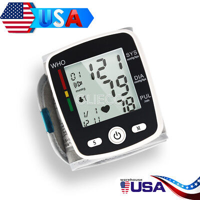 US Automatic Wrist Blood Pressure Monitor LCD Digital Display Screen With Voice 6