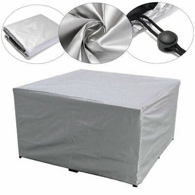 Outdoor Cover Garden Furniture Waterproof Patio Rattan Table Cube Set 3