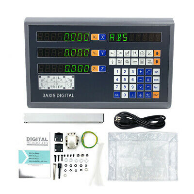 3 Axis Digital Readout DRO TTL Linear Encoder for Milling Lathe Display 5µm US 2