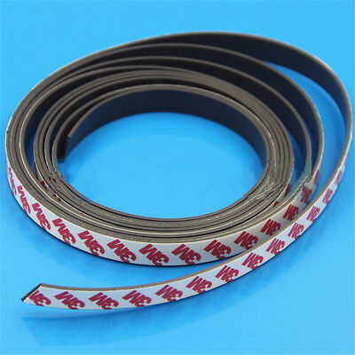 1M Long One Side Self Adhesive Magnetic Tape Magnet Strip Width 1-2mm 4