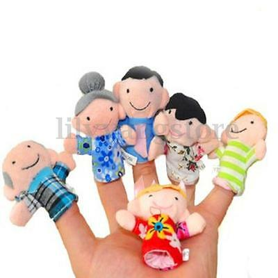 10/12X Family Finger Puppets Cloth Doll Baby Educational Hand Cartoon Animal Toy 7