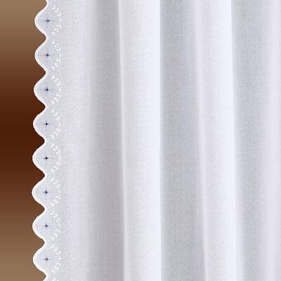 Seitenschalgarnitur Hedi Set 2-teilig weiß mit Stickerei Reihband oben
