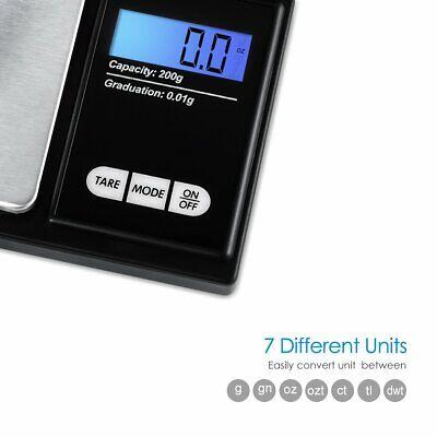 Balance De Poche Precision Electronique Cuisine Bijoux Fonction Tare Ecran LCD 4