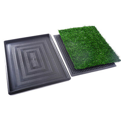 Puppy Pet Potty Training Pee Indoor Toilet Dog Grass Pad Mat Turf Patch 3