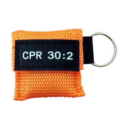 100 CPR MASK KEYCHAIN CPR FACE SHIELD POCKET AED TRAINING  CPR 30:2 Disposable 3