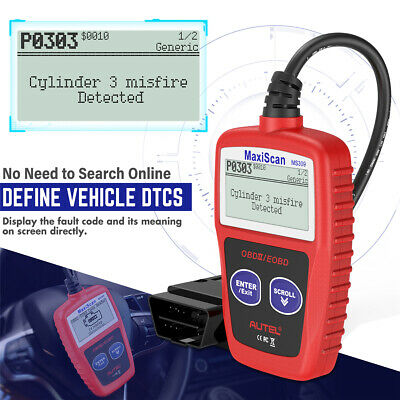 Autel MS309 OBD2 Check Engine Light Code Reader Auto Car Diagnostic Scanner Tool 7