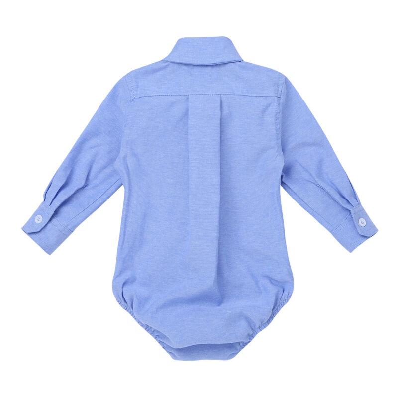Baby Hemd Body Langarm Mit Kragen Strampler Bodysuit
