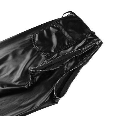 Herren Strumpfhose Wetlook Leggings schwarz Hosen Unterwäsche Pants mit Zipper 4