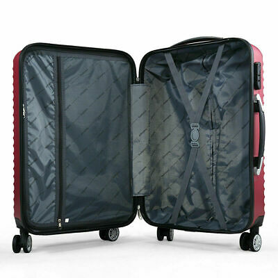 3 Piece Luggage Set Hardside ABS+PC Carry On Bag Travel Trolley Suitcase Spinner 8