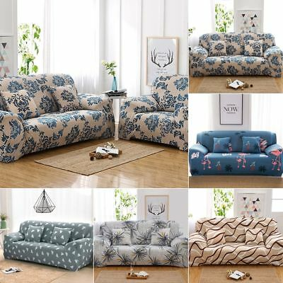 1/2/3/4 Sofa Covers Couch Slipcover Stretch Elastic Fabric Settee Protector Fit 2