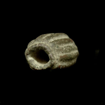 A Bactrian bronze bead with representation of two goats y167 3
