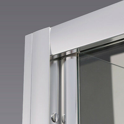 Bathroom Bi Fold Shower Door Enclosure Glass Screen FREE NEXTDAY DELVIERY 7