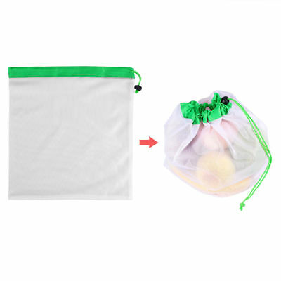 15x Eco Friendly Reusable Mesh Produce Bags Superior Double-Stitched Strength AU 8