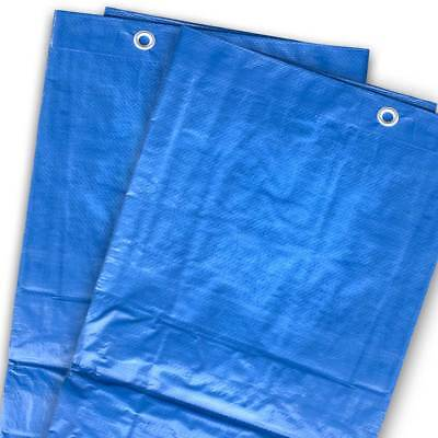 Blue Silver Poly Tarp 5 Mil Water Resistant Outdoor Weather Reversible UV Cover 2