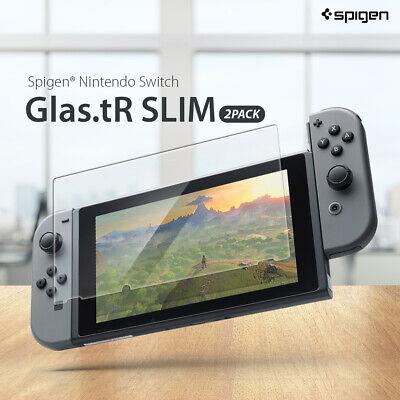Genuine Spigen GLAStR 9H Tempered Glass Screen Protector for Nintendo Switch 2PC 2