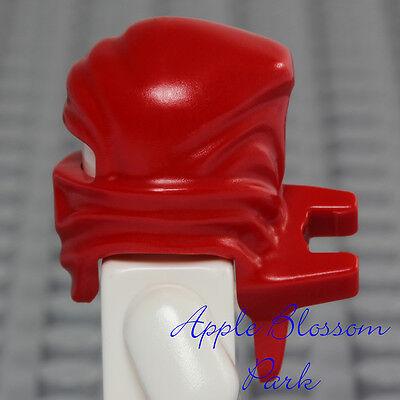 ☀️NEW Lego RED HEAD WRAP Gold ZX Kai Minifig Headwrap Hood Hat Fire Gear