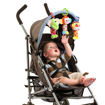 Baby Infant Rattles Plush Animal Stroller Hanging Bell Play Toy Soft Bed Doll FA 9