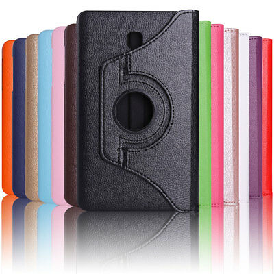 Folio Rotating Leather Case Cover For Samsung Galaxy Tab A 8.0 SM-T380 T387 T350 8