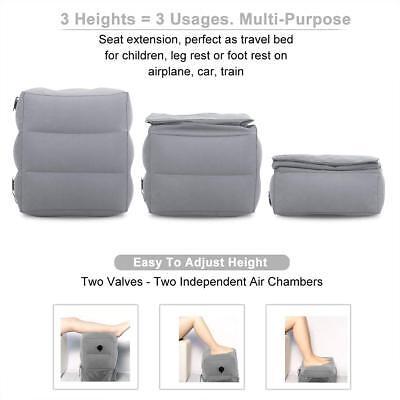 Portable Travel Foot Rest Hammock Flight Carry-on Leg Pillows Footrest Pat Bed 6