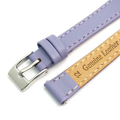 Ladies Smooth Stitched Leather Watch Strap C088 Lots of Colours & Sizes! 2