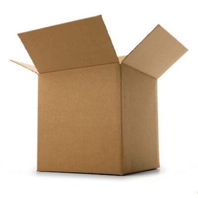 "Single Wall Postal Mail Medium Cardboard Postage Boxes Parcel Box 10 x 10 x 10"" 3"
