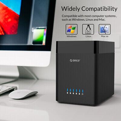 50TB Tool Free 5 Bay 3.5 Inch Sata Hard Drive Enclosure USB3.0 HDD Dock 4