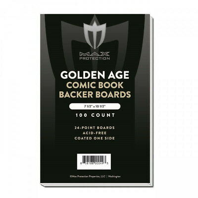 100 Golden Age Comic Book Bags & Backing Boards - NEW Max Archival Storage 2