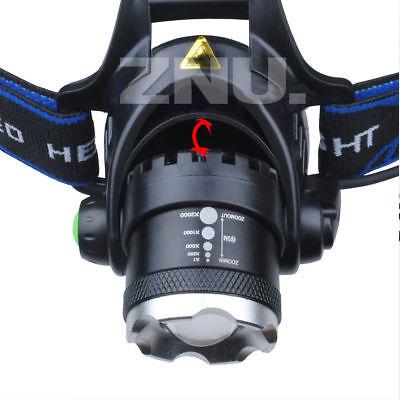 Waterproof 90000LM T6 LED Headlamp Headlight Flashlight Head Torch 18650 Camp