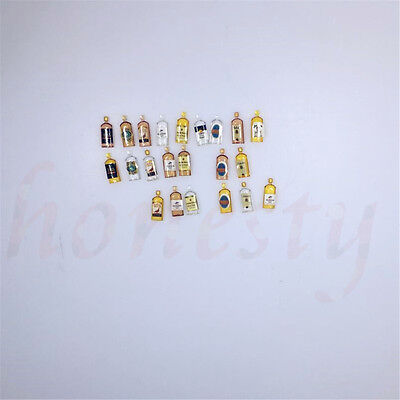 6pcs Dollhouse Miniature Wine Whisky Bottles Shop Pub Bar Drinks Accessory 8