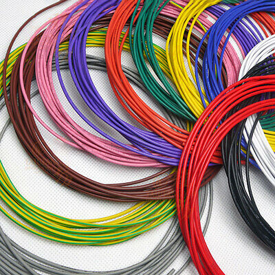 16awg - 30awg Flexible Electronic Wire UL1007 Stranded Cable 11 Colors Choose 2