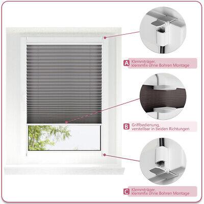 Plissee Jalousie Klemmfix für Fenster Faltstore Rollos ohne Bohren Sichtschutz 4
