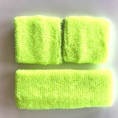 Neon Fluro Leg Warmers Headband Sweatbands 80's Disco Hens Fancy Dress Party 4