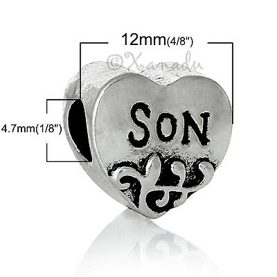 281744d8dec94 SON EUROPEAN HEART Charm And Birthstone Beads For Large Hole Charm Bracelets