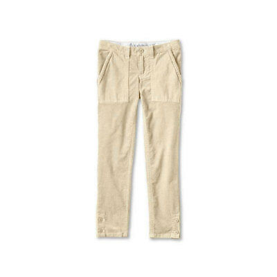 LANDS END Girls Corduroy Trousers Pencil Cord Adjustable Waist 5-6 6-7 9-10 Year 2
