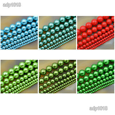 Wholesale Top Quality Czech Glass Pearl Round Beads 16'' 3mm 4mm 6mm 8mm 10mm 6