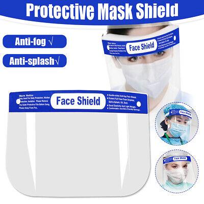 10pz Visiera Maschera Protettiva Regolabile Trasparente Anti-Nebbia Sicurezza 3