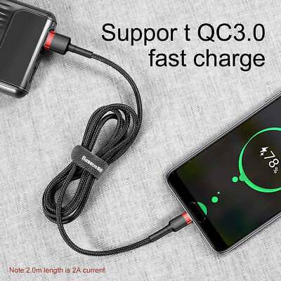Baseus Samsung S10 Plus S9 S8 USB-C Type C Cable Fast Charging Sync Charger Cord 7