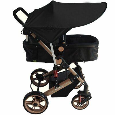 Black Universal Baby/Child Pushchair Stroller Pram Buggy Sun Shade Canopy Cover 3