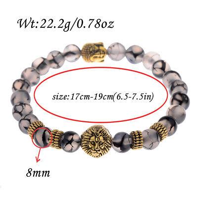 Men Women 8mm Natural Round Gemstone Bead Handmade Beads Bracelets Charm Jewelry 8