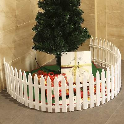 1-50X Picket Fence Garden Fencing Lawn Edging Home Yard Christmas Tree Fence UK