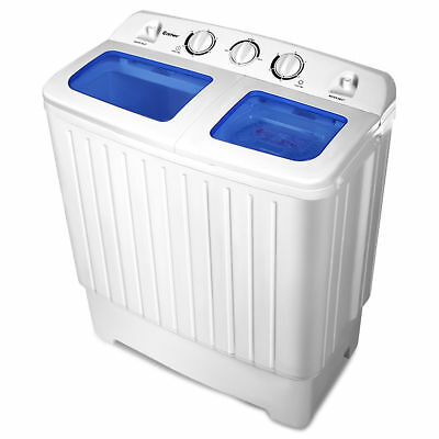 Portable Mini Compact Twin Tub Washing Machine Washer Spin Dryer 17.6lb 3