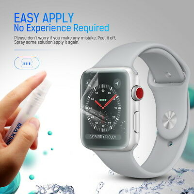 MaxShield Screen Protector for Apple Watch Series 2/3/4/5 38/42mm 40/44mm iWatch 5