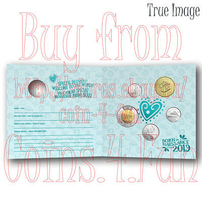 Sealed Born in 2019 Baby Gift 5 Coin Set - $2, specially struck $1, 25c, 10c, 5c 3