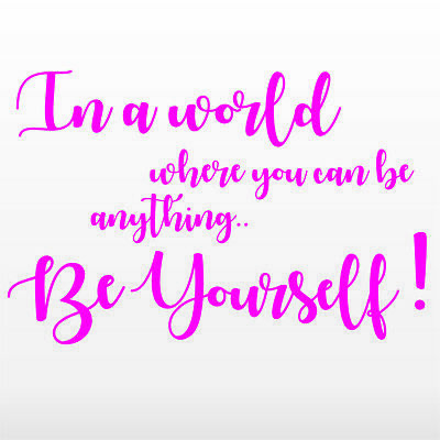 Quote Rose Gold Wall Stickers In a world Chrome Custom Be yourself 4